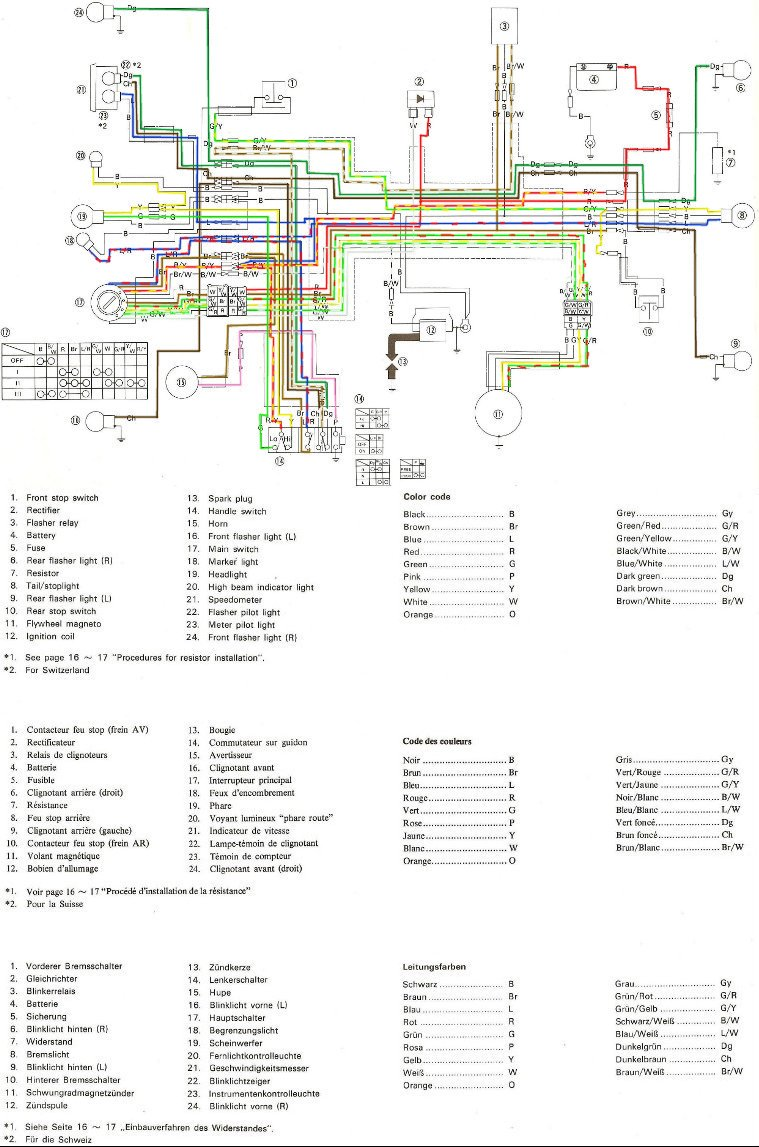YAMAHA TY 125 et 175 wiring diagram – It175 Wiring Diagram