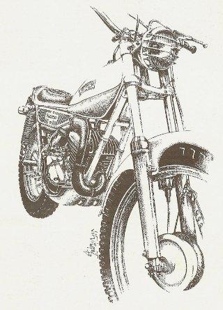 Gen se de la yamaha ty - Dessin moto trial ...