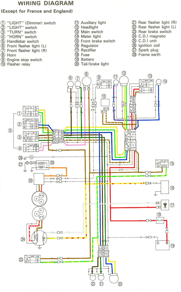 Wiring Diagram Yamaha : Yamaha wiring diagram ignition